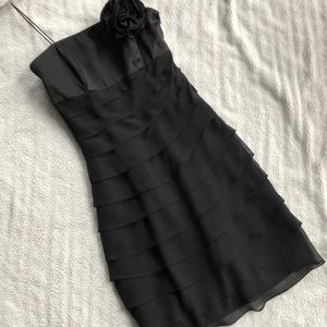 NWT WHBM Strapless Tiered Cocktail Dress